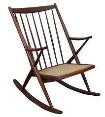 Modern Rocking Chair Frank Reenskaug Bramin Danish Modern Rocking Chair Chairish
