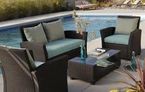 Patio & Pergola Black Wicker Patio Furniture Captivating