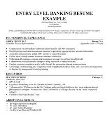 Resume For Customer Service Representative Simple Templates Resume Entry Level Banking Customer Service Representative