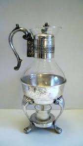 glass coffee pot replacement glass coffee pot vintage silver plate glass coffee pot carafe decanter with