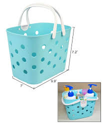 plastic shower caddy with handle. Beautiful Plastic JAVOedg Blue Small Plastic Shower Caddy With Handles Great For Dorms  In With Handle A