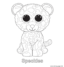 Small Picture Speckles Beanie Boo Coloring Pages Printable