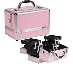 prevents lost makeup college cosmetic case pink great dorm organizer