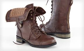 groupon has carrini women s vegan leather combat boots for only 29 reg 80 with free and returns there are 3 colors available black brown