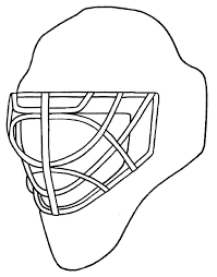 Small Picture Goalie Mask Coloring Pages Coloring Coloring Pages