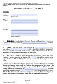 Free Kentucky Residential Lease Agreement – Pdf Template