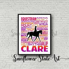 My Llu Chart Personalized Equestrian Poster Typography Equestrian Gift Horseback Riding Horseback Riders Horse Lovers Art Horse Print Horse Team