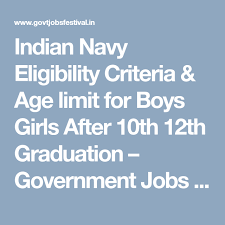 Indian Navy Eligibility Criteria Age Limit For Boys Girls