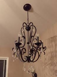 smart idea oil rubbed bronze chandelier with crystals hampton bay 5 light hanging crystal ihx9115a at the home depot mobile