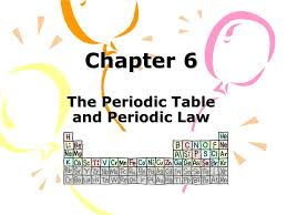 Chapter 6 The Periodic Table and Periodic Law - ppt download