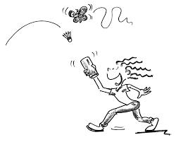 Giochi Di Rinvio Con Bambini Badminton Cacciatore Di Farfalle