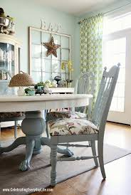 dining room table and chairs makeover i d paint the entire table white love the white and robin s egg blue bo