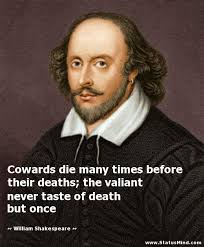 Shakespeare Quotes About Death Cowards die many times before their deaths the StatusMind 28