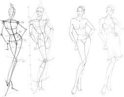 дизайнерские скетчи одежды урок Fashion иллюстрации рисуем фигуру