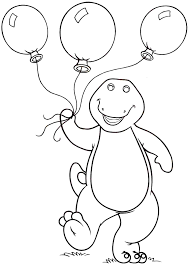 Small Picture Barney Carrying Balloons Barney Coloring Pages Pinterest