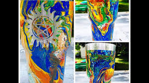 diy swirl painting hydro dipping tumblers craftingwhileing com