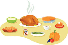 mashed potatoes and gravy clipart. Thanksgiving Meal Vector Art Illustration Intended Mashed Potatoes And Gravy Clipart