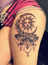 Sun And Moon Tattoo Minus The Creepy Face On The Sun вау