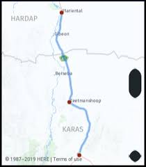Namibia Distance Chart What Is The Distance From Mariental Namibia To Grunau
