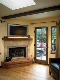 corner fireplace tv stand there must be a er way to achieve this without the