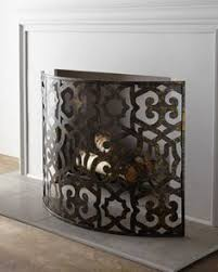 Unique fireplace screens Custom Curved Fireplace Screen At Neiman Marcus Home Fireplace Fireplace Screens Faux Fireplace Pinterest 115 Best Fireplace Screens Images In 2019 Fire Places Fake