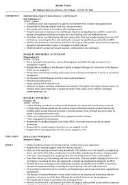 Download Banquet Houseman Resume Sample as Image file