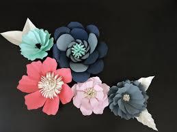 Chart Paper Flower Making Diy Giant Paper Flowers Tutorial Blue Fox Crafts
