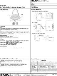 Nora Lighting Nhic 17qat Product Detail Manual