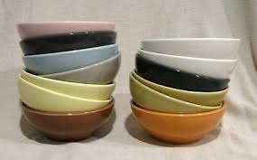Russel Wright Iroquois Color Chart Russel Wright Iroquois Casual Coupe Cereal Bowl Multiple