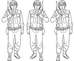 Army Soldier Coloring Pages Alert Famous Soldier Coloring Pages Free