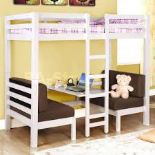 Loft Beds: Full Size White Loft Bed Of With Stairs And Desk Junior Double  Plans