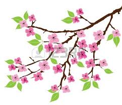 tree branch with leaves vector. vector tree branch with leaves and flowers