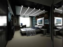 black master bedroom