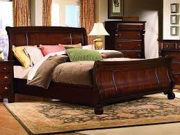 ... Cool Bedroom Furnishing Decoration Using Queen Size Sleigh Bed Frame :  Epic Picture Of Bedroom Decoration ...