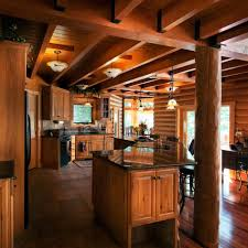 smj construction log home kitchen