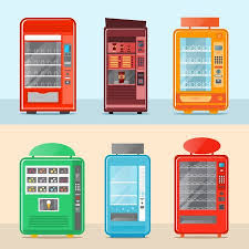 Mobile Ice Vending Machines Mesmerizing Vending Machine Set Isolated Vector Illustration Cold Drink