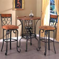 three piece round pub table and upholstered seat bar stool set with tables stools collections 2fcrown oval pub table 24 inch