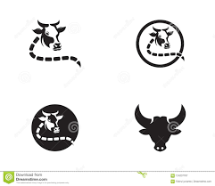 Cow Template Cow Head Logo Vector Template Stock Vector Illustration Of