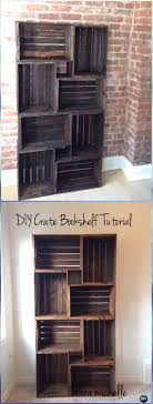 diy wood crate bookshelf instructions diy wood crate furniture ideas projects