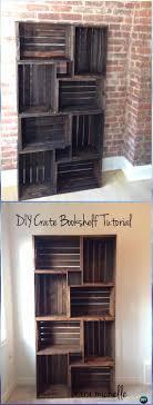 diy wood crate bookshelf instructions diy wood crate furniture ideas projects