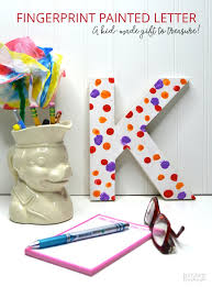 a cute painted letter craft the perfect kid made handmade gift for mom or grandma