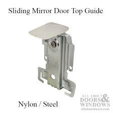 sliding mirror door top guide 3 7 16 quot steel housing