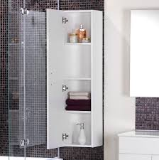 unusual bathroom furniture. Bathroom. Dazzling Bathroom Storage With Mounted Wall Tower Cabinet Combined Four Shelf Also Chrome Hinge Unusual Furniture E