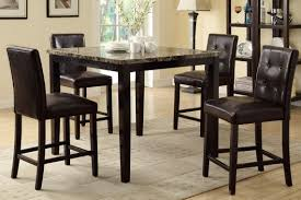 counter height dining table. Amazon.com - Counter Height Dining Table And 4 High Chairs By Poundex Tables O