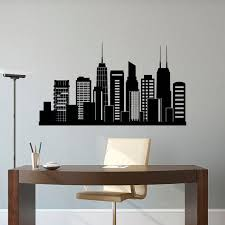 chicago skyline wall decal city from fabwalldecals on