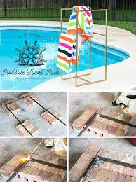 how to make a poolside towel rack racks for pool side diy