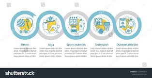 Sports Activities Vector Infographic Template Fitness Stock