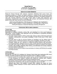 Restaurant Management Resume Jmckell Com