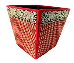 bedroom waste baskets decorative. Perfect Decorative Blue Orchid Decorative Waste Baskets Bedroom Bathroom Office Elephant Desk  Accessories 8 Inch Red Throughout R