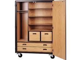 mobile wardrobe storage closet 3 shelves 4 drawers